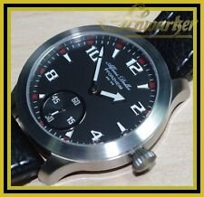 Handaufzug Alfons Doller UNITAS ( ETA ) 6498 mit Glasboden  NEU mechanisch Leder