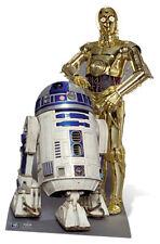 STAR WARS CLASSIQUE DROIDES R2-D2 & C3PO TAILLE RÉELLE DÉCOUPE DE CARTON Debout