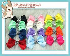 ~BabyRou~ 48 Dog Grooming Pet Ribbon Bows (Glitz & Glamour Bling Bling!)