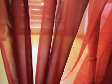 1 Kurzgardine Scheibengardine Panneaux H/B 45 x 120 cm terra Schleifen Bänder