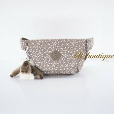 NWT Kipling AC8250 Arvin Fanny Pack Hip Waist Bag Polyester Dainty Daisies Beige