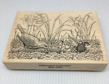 Stampa Rosa Rubber Stamp House Mouse Sweet Corn Friend Millennium Collectible