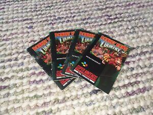 Donkey Kong Country Super Nintendo SNES Manual PAL