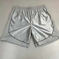 Foot Locker Sports Short Mens 3XL Silver Elastic Waist Soccer Basketball Shorts