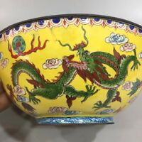 Chinese Antique Cloisonne depicting Ssangyong Bowl