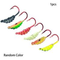 6pc Mix Lead Round Jigs Head Saltwater Fishing Lures Bait Jig Hook Fish Too T1T4