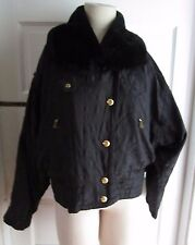 Vintage Womens 10 BOGNER Faux Fur Collar PARKA SKI SNOWBOARD WINTER JACKET COAT