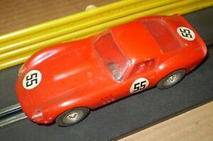 REVELL RED FERRARI GTO 60s   VINTAGE SLOT CAR  1/32