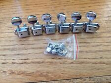 Vintage Style 6 In A Line Electric Guitar Tuners Strat Tele