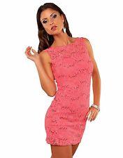 Sexy Minikleid Partykleid Pailletten Kleid mit Spitze, Gr. 34-36-38 XS-S-M