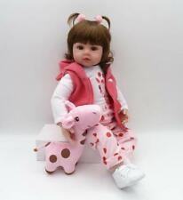 "18""Newborn Doll Real Lifelike Silicone Reborn Baby Dolls Toddler Girl Xmas Gift."