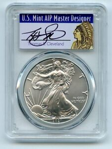 2021 (P) $1 Emergency Issue American Silver Eagle PCGS MS70 FDI Cleveland Native