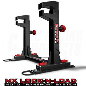 NEW RISK LOCK N LOAD STRAPLESS SYSTEM MOTOCROSS ENDURO VAN BIKE MX STAND
