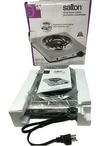Salton THP517 Stainless Steel Portable Cooktop In Box
