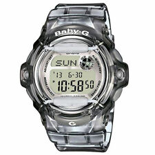 * Nuovo * Casio Donna Baby G GRIGIO WORLD TIME watchbg 169r-8er RRP £ £ 99