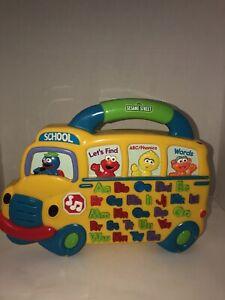 USED Sesame Street Alphabet School Bus Sounds Phonics Learning SHIPSN24HRS