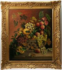 Nature morte, Grappes de raisins et pêches/Still life, 19 century