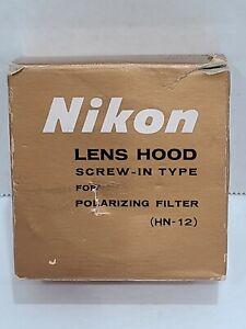 Nikon HN-12 Nikkor 52mm Polarizer Screw In Metal Lens Hood