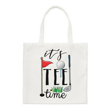 It's Tee Time Small Tote Bag - Funny Golf Dad Father's Day Shoulder