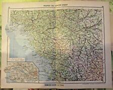 1962 Biarritz, ville et plage,,le port du Pouliguen,carte France du Centre-Ouest