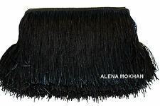 "1 yard 6"" Black Chainette Fringe Dance Costume Trim"