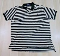 Men's Polo Ralph Lauren Short Sleeve Polo Shirt White/Grn XL Striped Casual Pony