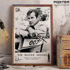 POSTER Roger Moore James Bond Agente 007 Tribute Film Action Movie Vintage Art