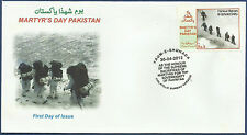 PAKISTAN 2012 FDC MARTYR´S DAY GYARI SIACHEN PAKISTAN ARMY NAVY AIRFORCE DEFENCE