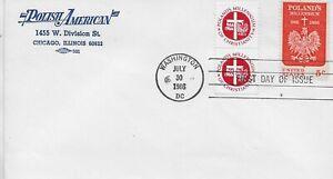 1966 #1313 Polish Milleneum Polish American CC