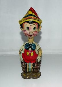 """EX! DISNEY 1939 """"PINOCCHIO"""" MARX TIN WIND-UP TOY WITH BUILT-IN KEY-WORKING!"""