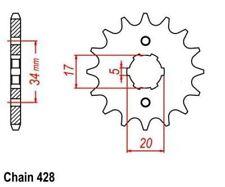 KR Ritzel 14Z Teilung 428 HONDA CBR 125 R 04-14 New... front sprocket