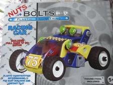 NUTS & BOLTS RACING CAR. PLASTIC CONSTRUCTION SET EASY BUILD INSTANT PLAY 5+