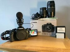 Cannon 600D Digital SLR Camera Including Lens x 2 and Mic
