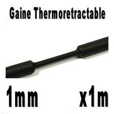 Gaine Thermo Rétractable 2:1 - Diam. 1 mm - Noir - 1m