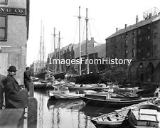 8x10 Print 1912 Liverpool city in Merseyside, England Boat Yard Workers #750