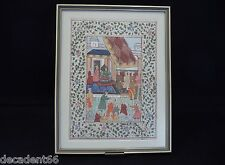 VINTAGE MIDDLE EASTERN WATERCOLOUR ON LINEN MOUNTED AND FRAMED (NO1)