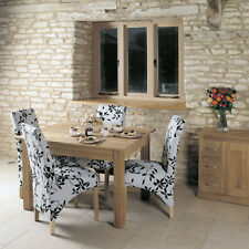 Mobel Solid Oak Dining room Table Seats 4 Rectangular Wooden Dining Furniture