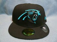 New Era 59fifty Carolina Panthers Solid BRAND NEW Fitted cap hat Black NFL