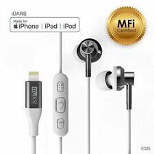 iDARS Lightning Headphone Earbud Earphone Apple MFi Certified in-Ear Wired-white