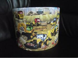 """MY FIRST / 1ST JCB 10"""" DRUM CEILING LAMPSHADE LIGHTSHADE"""