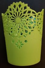 Bargain Buy Green Lace Looking Round Plastic Basket 3.5 inches New