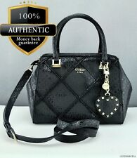 NEWEST! GUESS Luxury Handbag Ladies Winett Black Satchel Designer Bag Purse USA