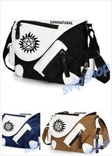 Supernatural Logo Backpack Canvas Messenger/Shoulder Bag School Bag New
