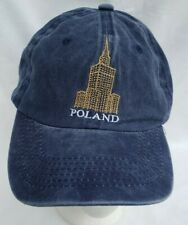 Poland Blue Men's Hat Palace of Science and Culture Building Cap Adjustable