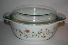 Pyrex Made in England 1Q Casserole Dish With Glass Lid