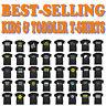 Kids Tshirt Funny Childrens Toddlers Tee Top T-Shirt SUPER VARIOUS DESIGNS BK43