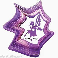 "6""/15cm Purple Fairy Kiss Wind Spinner Sun Catcher Hook Garden Indoor Iron Stop"