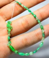NATURAL COLOMBIAN EMERALD FACET BEADS & TEAR DROPS 2MM TO 7MM 12 CARATS GEMSTONE