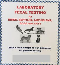 Fecal Testing Kit for Birds, Reptiles, Amphibians, Dogs and Cats