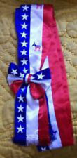 US Democratic Party Democrat Parade Election Sash Vote Rally Candidate Political